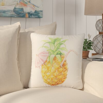 Easington Pineapple Drink Beach Throw Pillow