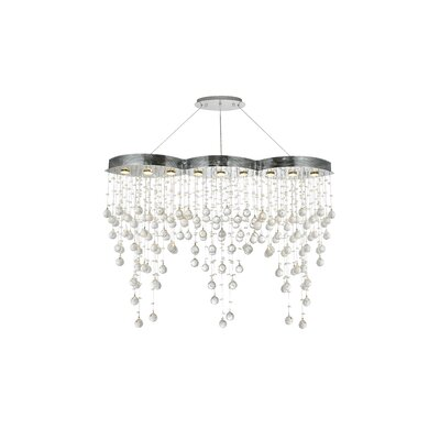Pellerin 9-Light Crystal Pendant Crystal: Swarovski Strass