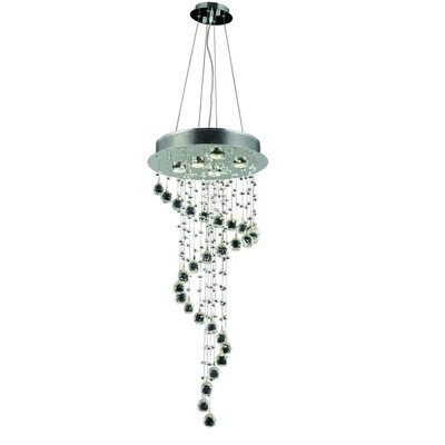 Deidamia 5-Light Cluster Pendant Crystal: Egyptian