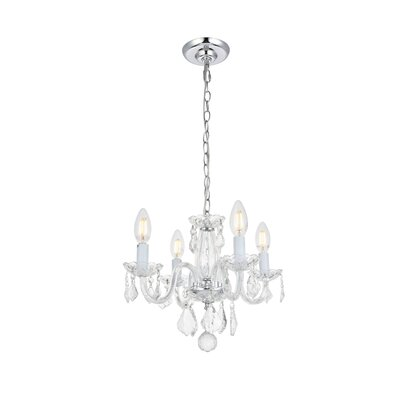 Lamy 4-Light Crystal Chandelier Finish: Chrome