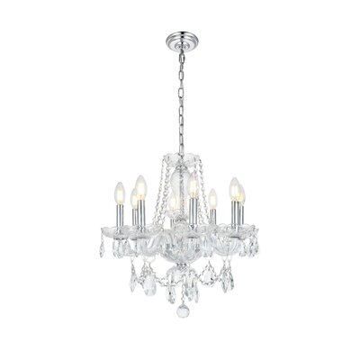 Rochelle 8-Light Crystal Chandelier Finish: Chrome