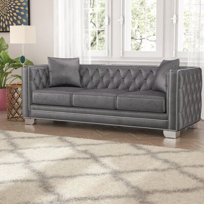 Creekside Chesterfield Sofa Upholstery: Grey