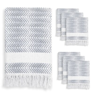 Scarlett 7 Piece Towel Set Color: Dusty Blue