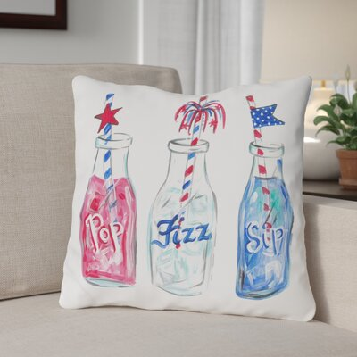 Pop Fizz Zip Throw Pillow Size: 16 H x 16 W x 3 D