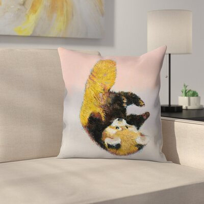 Red Panda Cub Throw Pillow Size: 16 x 16