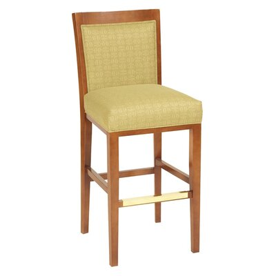 30 Bar Stool Upholstery Color: Howdy Taupe, Frame Color: English Oak