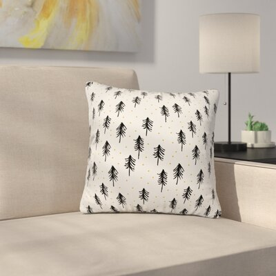Little Arrow Co Winter Pines Throw Pillow Size: 16 x 16