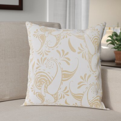 Klassen Indoor/Outdoor 100% Cotton Pillow Cover Color: White/Latte