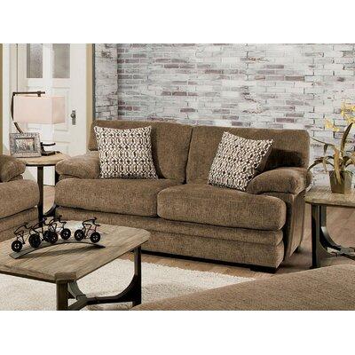 Ensminger Transitional Chenille Loveseat Upholstery: Brown