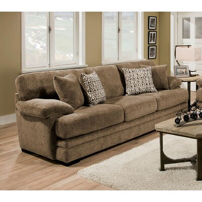Ensminger Transitional Chenille Sofa Upholstery: Brown