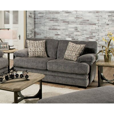 Ensminger Transitional Chenille Loveseat Upholstery: Grey