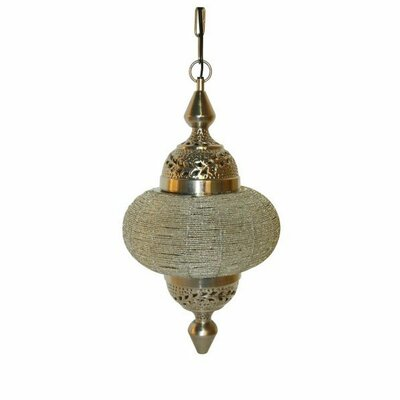Soraya Handcrafted Hanging Chain Beads 1-Light Geometric Pendant
