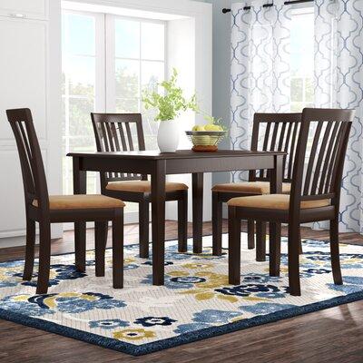 Oneill Modern 5 Piece Upholstered Dining Set