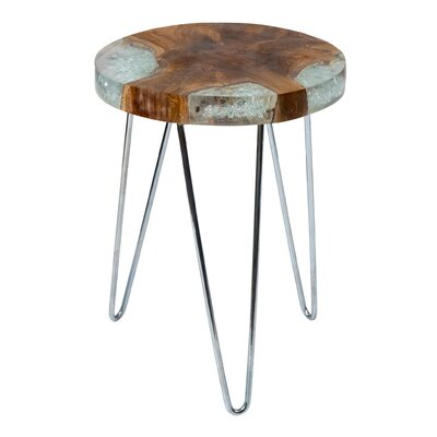 Loken End Table Color: Chrome