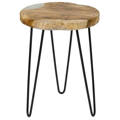 Loken End Table Color: Black