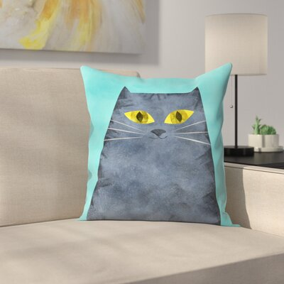 Tracie Andrews Tabby Throw Pillow Size: 16 x 16