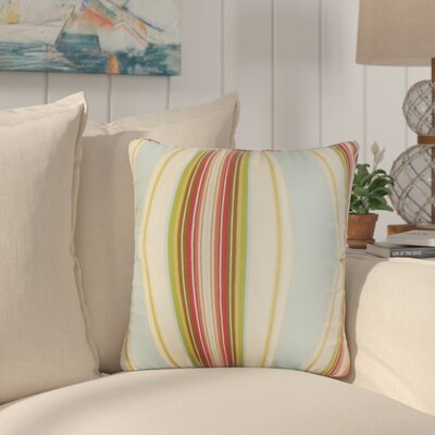 Afrin Stripes Cotton Throw Pillow Color: Blue
