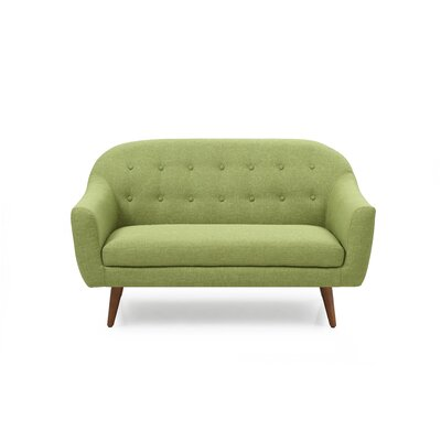 Cate Loveseat Upholstery: Green