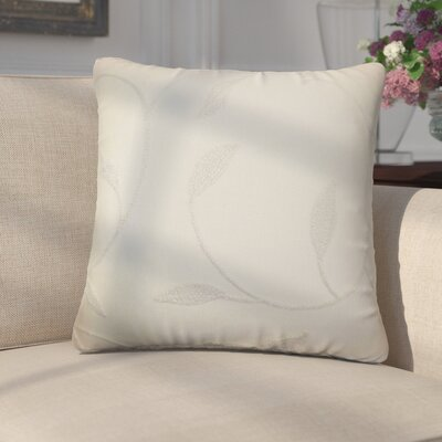 Ettore Floral Cotton Throw Pillow Color: Vanilla