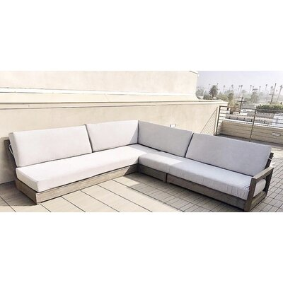 Buy Weathered Teak Sectional Product Photo