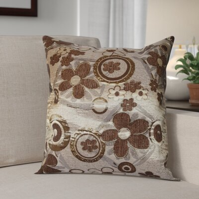 Merlene Daisy Decorative Pillow Cover Color: Brown / Gold