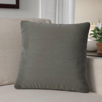 Kiera Square Throw Pillow Color: Dark Gray