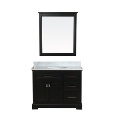 Coston 43 Single Bathroom Vanity Set Base Finish: Espresso