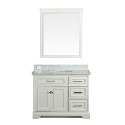 Coston 43 Single Bathroom Vanity Set Base Finish: Linen White