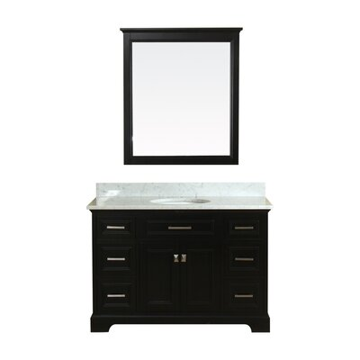 Coston 49 Single Bathroom Vanity Set Base Finish: Espresso
