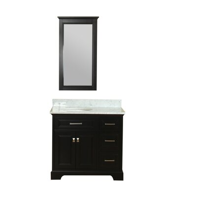 Coston 37 Single Bathroom Vanity Set with Mirror Base Finish: Espresso