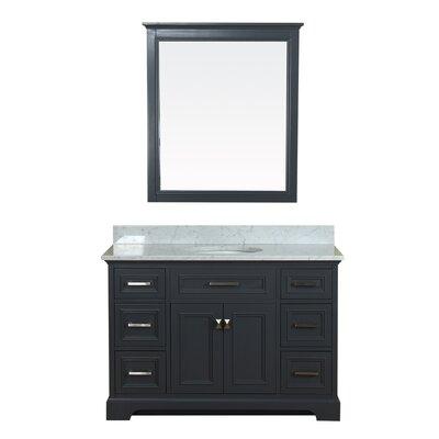 Coston 49 Single Bathroom Vanity Set with Mirror Base Finish: Gray