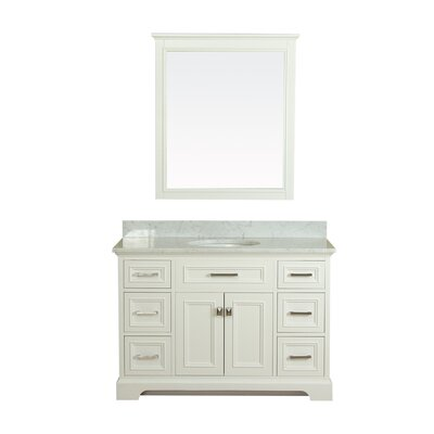 Coston 49 Single Bathroom Vanity Set Base Finish: Linen White