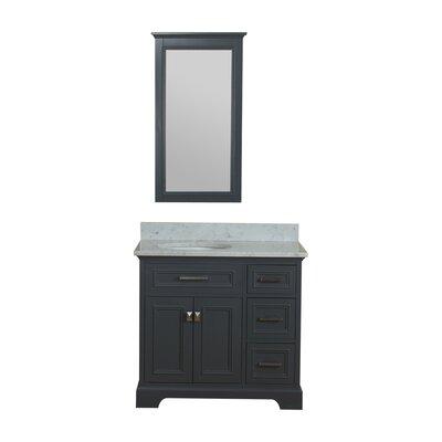 Coston 37 Single Bathroom Vanity Set with Mirror Base Finish: Gray