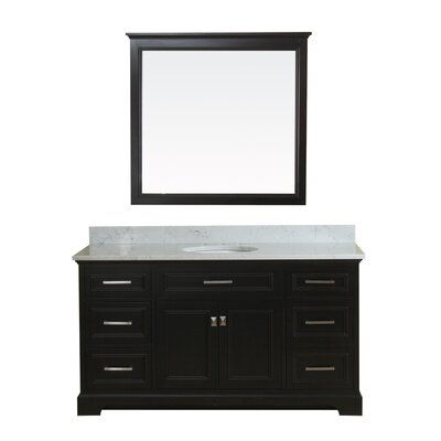 Coston 61 Single Bathroom Vanity Set Base Finish: Espresso