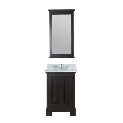 Cothern 24 Single Bathroom Vanity Set with Mirror Base Finish: Espresso