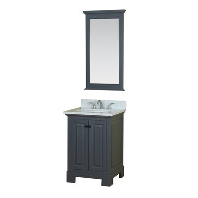 Cothern 24 Single Bathroom Vanity Set Base Finish: Gray