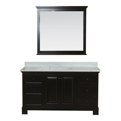 Cothern 60 Single Bathroom Vanity Set Base Finish: Espresso