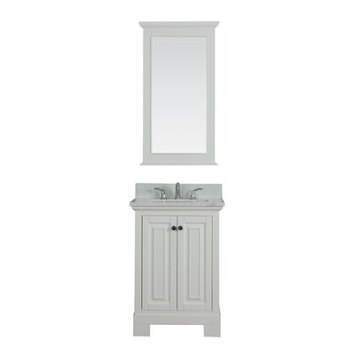 Cothern 24 Single Bathroom Vanity Set Base Finish: White