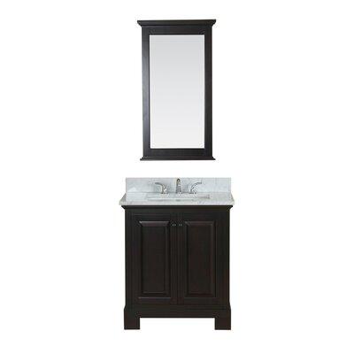 Cothern 30 Single Bathroom Vanity Set with Mirror Base Finish: Espresso
