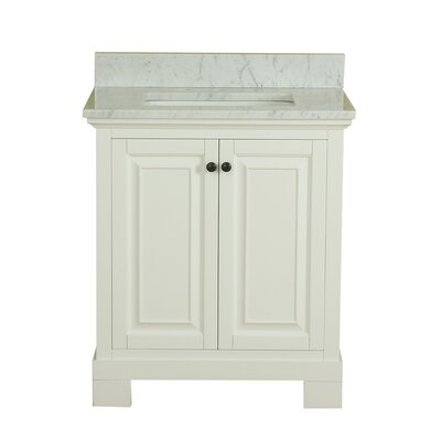 Cothern 30 Single Bathroom Vanity Set Base Finish: White