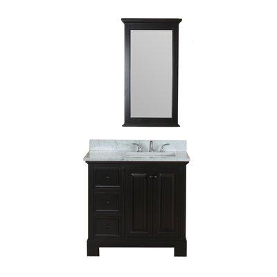 Cothern 36 Single Bathroom Vanity Set with Mirror Base Finish: Espresso