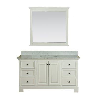 Cothern 60 Single Bathroom Vanity Set Base Finish: White