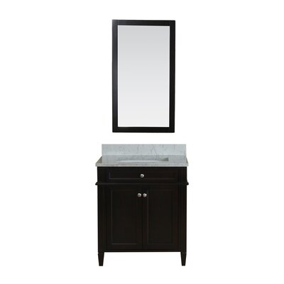 Costillo 30 Single Bathroom Vanity Set with Mirror Base Finish: Espresso