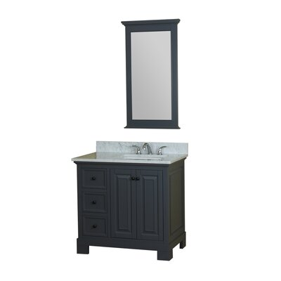 Cothern 36 Single Bathroom Vanity Set with Mirror Base Finish: Gray