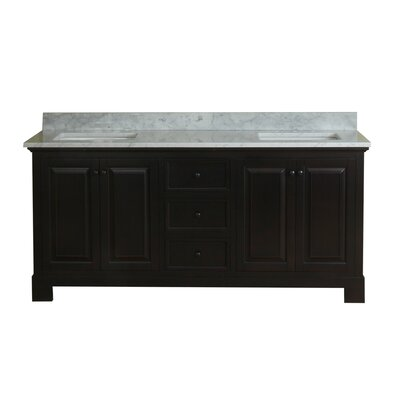 Cothern 72 Double Bathroom Vanity Set Base Finish: Espresso