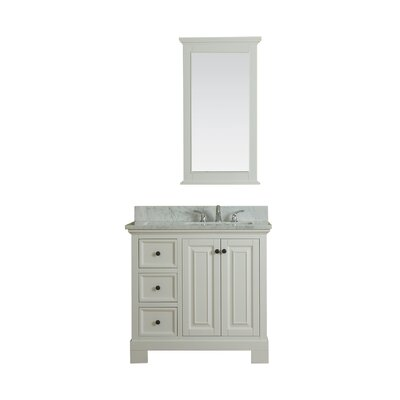 Cothern 36 Single Bathroom Vanity Set with Mirror Base Finish: White
