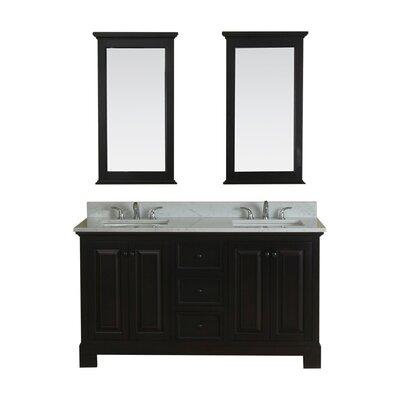 Cothern 60 Double Bathroom Vanity Set Base Finish: Espresso