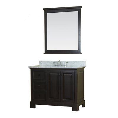 Cothern 42 Single Bathroom Vanity Set with Mirror Base Finish: Espresso