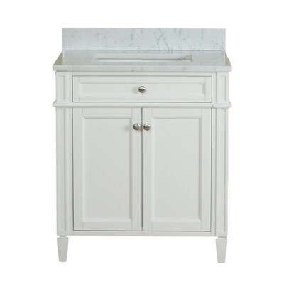 Costillo 30 Single Bathroom Vanity Set Base Finish: Linen White