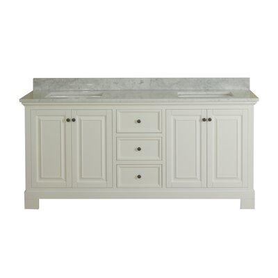 Cothern 72 Double Bathroom Vanity Set Base Finish: White